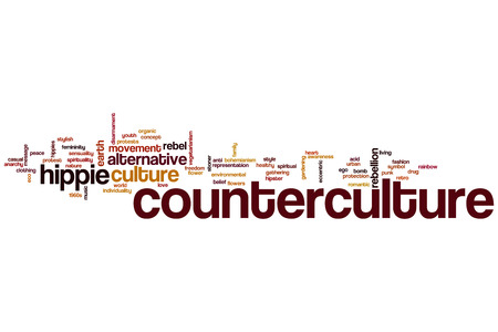 counterculture: Counterculture word cloud concept