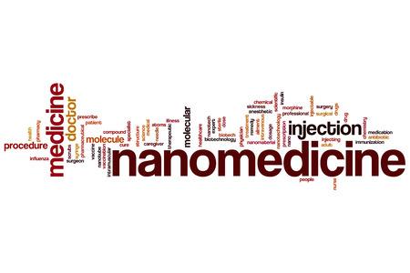 inyeccion intramuscular: Nanomedicina concepto de nube de palabras