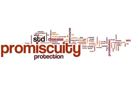 relaciones sexuales: Promiscuidad concepto de nube de palabras