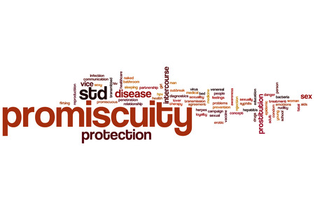 sexual intercourse: Promiscuity word cloud concept Stock Photo