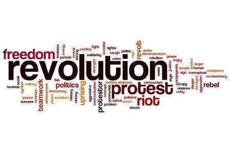 Revolution word cloud concept photo