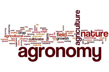agronomy: Agronomy word cloud concept Stock Photo