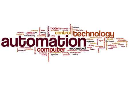 seguridad industrial: Automatización concepto de nube de palabras
