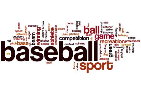 pitchers mound: Baseball word cloud concept