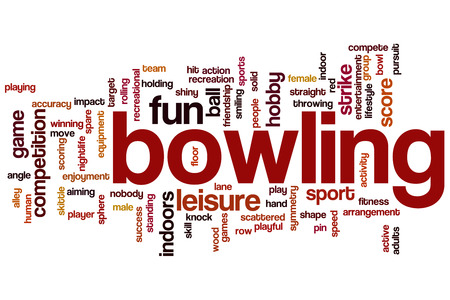 bowling alley: Bowling word cloud concept
