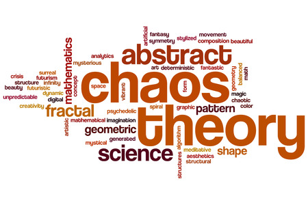 chaos: Chaos theory word cloud concept