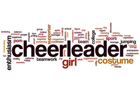 adult cheerleader: Cheerleader word cloud concept