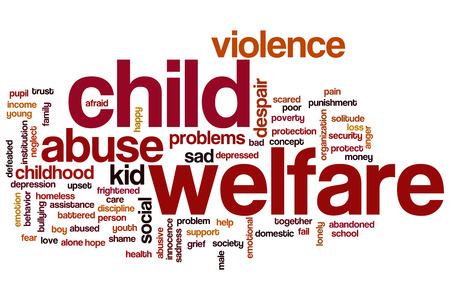 domestic violence: Child welfare word cloud concept