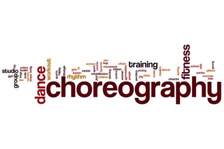 Choreography word cloud concept photo