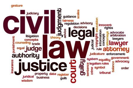 civil law: Civil law word cloud concept
