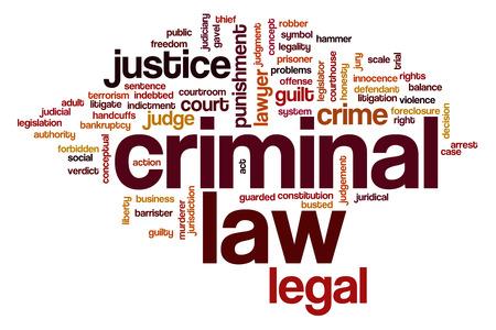 Criminal law word cloud concept