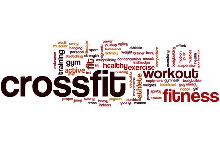 Crossfit word cloud concept photo