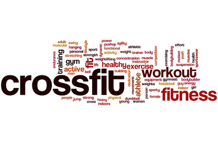 Crossfit word cloud concept Stock Photo