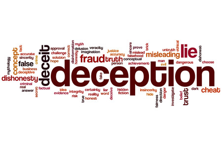 Deception word cloud concept