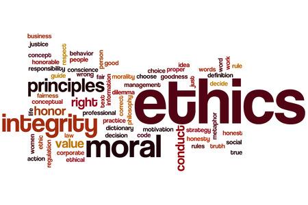Ética concepto de nube de palabras