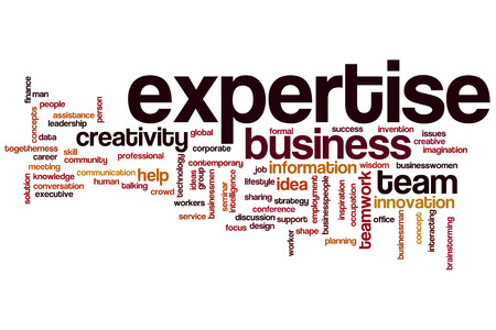Expertise word cloud concept Stok Fotoğraf