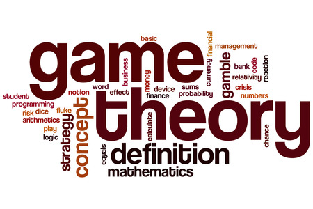 Game theory word cloud concept photo