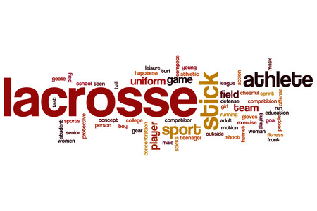 Lacrosse word cloud concept