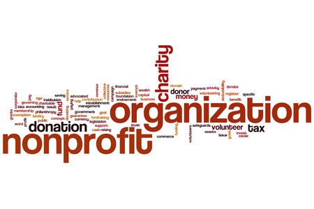 Nonprofit organization word cloud concept
