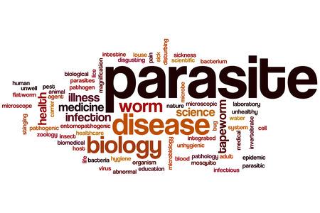 pathogenic: Parasite word cloud concept