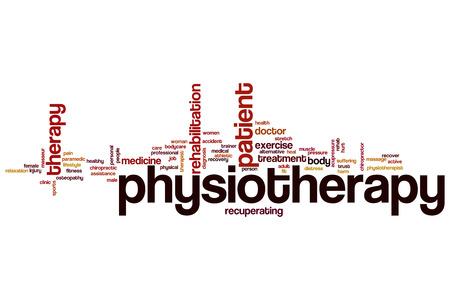 Fisioterapia concepto de nube de palabras Foto de archivo