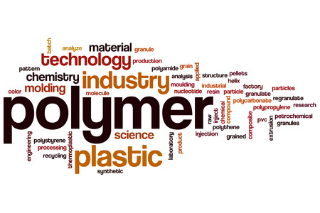 moulding: Polymer word cloud concept