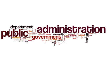 Public administration word cloud concept