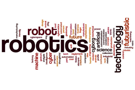 Robotics word cloud concept Stock Photo - 34094785