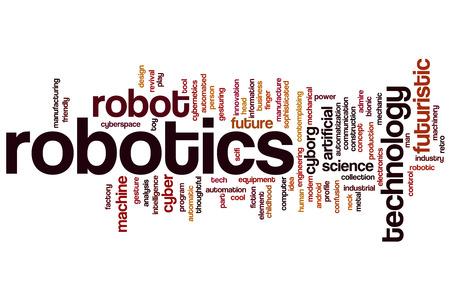 Robotics word cloud concept Stock Photo