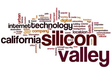 シリコン バレーの単語の雲の概念 写真素材