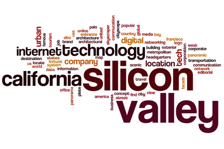 Silicio palabra valle concepto de nube Foto de archivo - 34095497