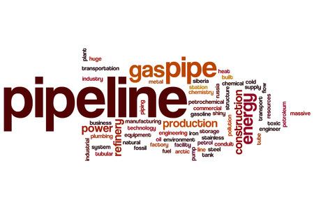 Pipeline word cloud concept photo