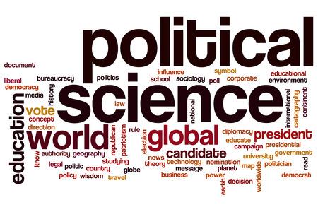 Political science word cloud concept