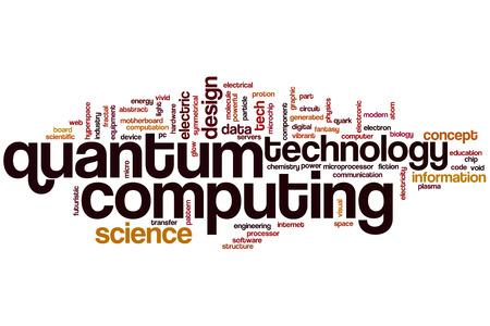 Quantum computing word cloud concept photo
