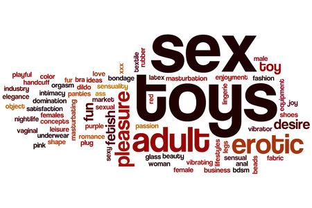 sex: Секс игрушки Концепция слово облако