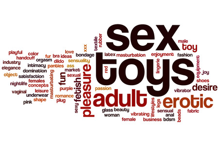 woman sex: Sex toys word cloud concept