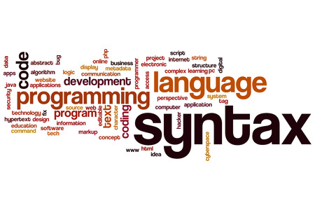 syntax: Syntax word cloud concept