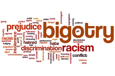 discrimination: Bigotry word cloud concept