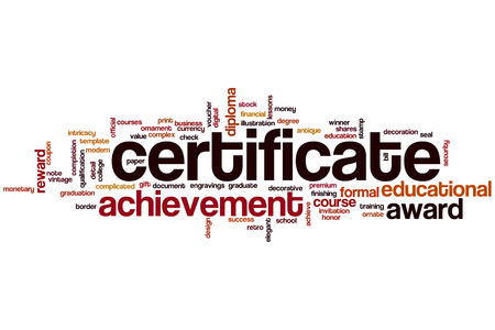 Certificate Word Cloud Concept Stock Photo Picture And Royalty Free