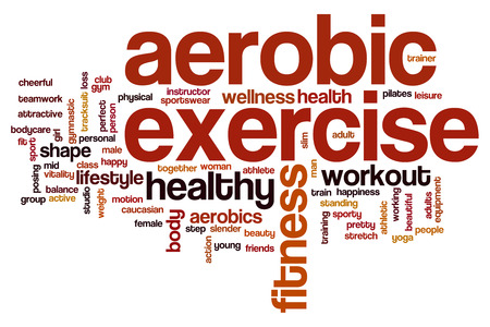 aerobic exercise: Aerobic exercise word cloud concept Stock Photo