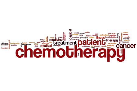 Chemotherapy word cloud concept photo