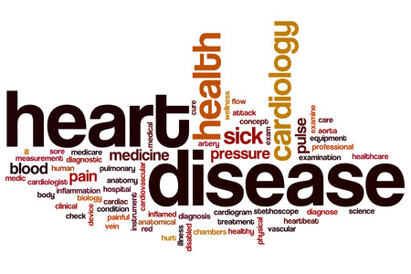Heart disease word cloud concept Stock Photo