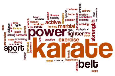arts: Karate word cloud concept