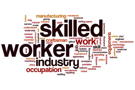 Skilled worker word cloud concept