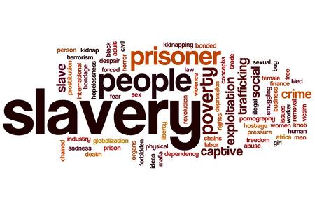 slave labor: Slavery word cloud concept
