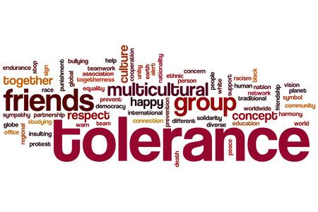 Tolerance word cloud concept photo