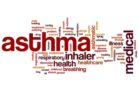 respire: Asthma word cloud concept Stock Photo