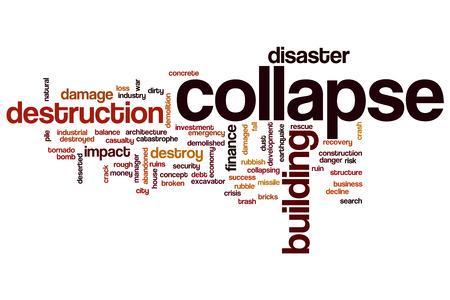 effondrement: R�duire notion mot de cloud Banque d'images