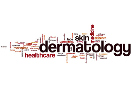 Dermatology word cloud concept Stock Photo