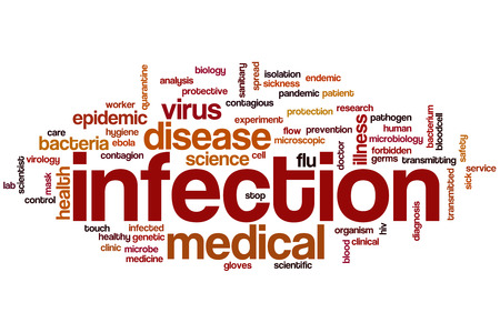 Infection word cloud concept